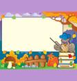 autumn frame with owl teacher 1 vector image vector image