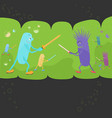 battle between good and bad bacteriums vector image
