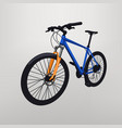 bicycle on grey vector image vector image