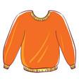 big orange sweater on white background vector image vector image