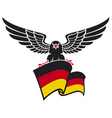 black eagle with german flag vector image