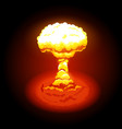 bright nuclear explosion vector image