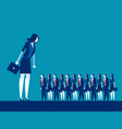 business manager looking on crowd concept vector image vector image