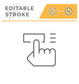button pushing editable stroke line icon vector image