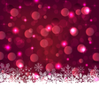 Christmas glowing background with snowflakes vector image vector image