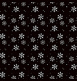 christmas seamless pattern of snowflakes gray and vector image vector image