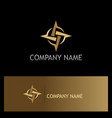 circle arrow gold logo vector image