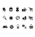 Commerce and retail icons set vector image vector image