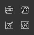 construction tools chalk icons set vector image vector image
