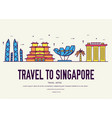 country singapore travel vacation guide of goods vector image