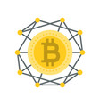 cryptocurrency icon flat design vector image vector image