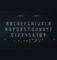 digital awesome symbols set futuristic style vector image