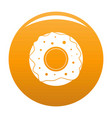 donut icon orange vector image vector image