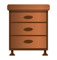 drawer icon cartoon style vector image