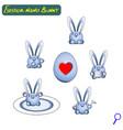 easter cute nano rabbits robotic assistants iron vector image