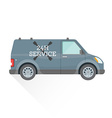 emergency repair service car vector image vector image