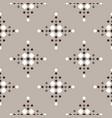 fair isle seamless geometric pattern with rhombus vector image vector image