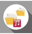 file design social media icon online concept vector image vector image