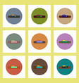 flat icons set of drought and fish concept on vector image vector image
