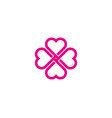 flower love logo icon design vector image vector image