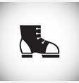 foot wear protection on white background vector image