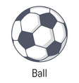 football ball icon cartoon style vector image vector image