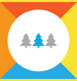 forest icon colored line symbol premium quality vector image vector image