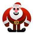 funny cartoon character cool santa claus vector image vector image