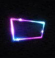 halogen neon sign colorful shining led lamp frame vector image vector image