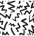 hand-painted seamless pattern with zig-zag vector image vector image