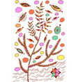 heather - floral colorful plant vector image vector image