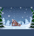 house in the winter forest vector image