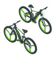 isometric modern electric bicycle icons e-bike vector image vector image