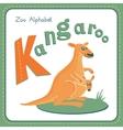 Letter K - Kangaroo vector image vector image