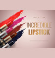 lipstick advertising banner concept vector image vector image