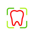 Logo Dental Healthy Care Tooth Protection vector image vector image