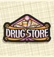 logo for drug store vector image