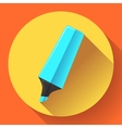 Marker icon Highlighter symbol Flat vector image vector image