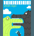 million years ago vector image vector image