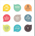 modern badges and labels collection 6 vector image vector image