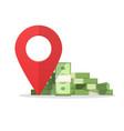 money finance place pointer marker cashier atm vector image vector image