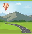 mountain road mountain landscape with winding vector image