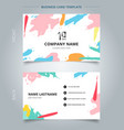 name card template abstract shapes art pattern vector image vector image