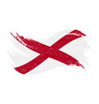 national flag of alabama designed using brush vector image vector image