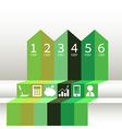 Numbered Green Ribbons vector image