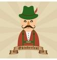 Oktoberfest celebration design with Bavarian man vector image vector image