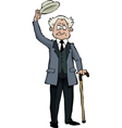 old man with a cane vector image vector image
