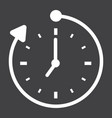 overtime solid icon business and clock vector image