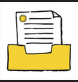 paper tray doodle icon vector image