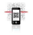 qr code phone vector image vector image